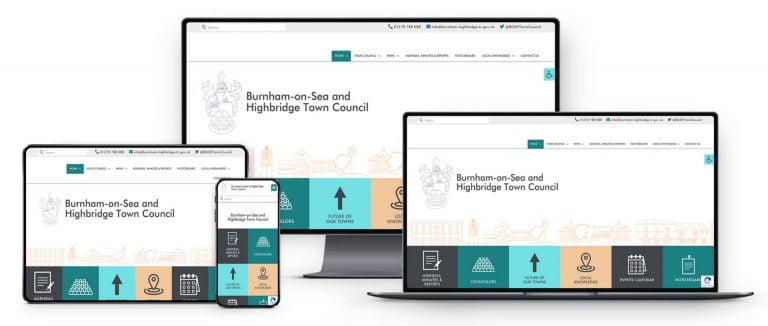 town council website design burnham somersetv2