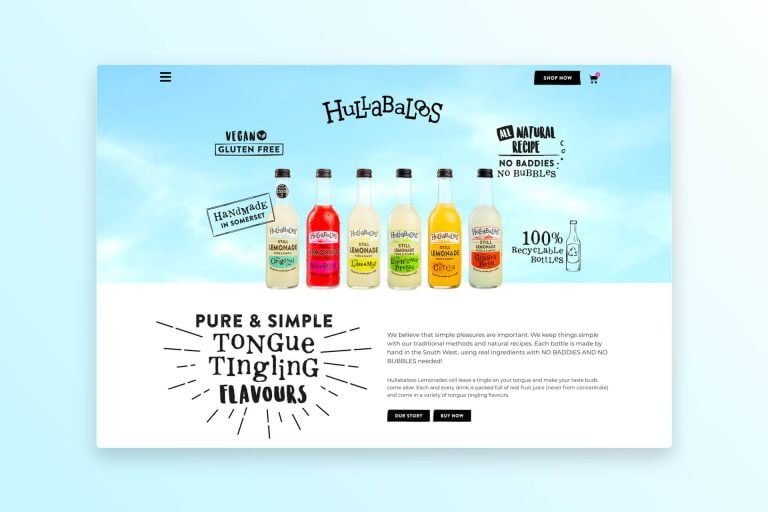 Hullabaloos Drinks Ecommerce Website Design Somerset