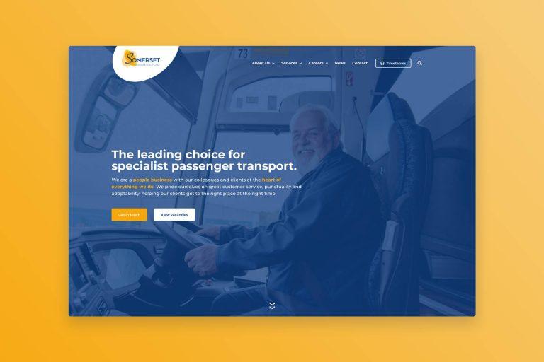 Somerset Passenger Solutions WordPress Web Design Somerset